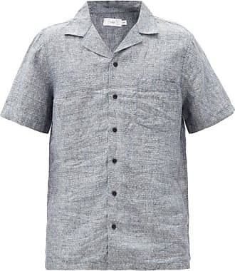 Onia Vacation Polka-dot Linen Shirt - Mens - Grey