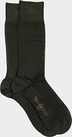ZD Zero Defects Zero Defects green mercerized cotton socks