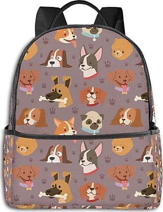 Not Applicable Clothing Cute Dog Head Mens Laptop Backpack Womens College Casual Lightweight Outdoor Sports Backpack