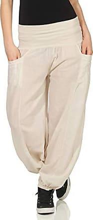 Damen Hose Sommerhose Freizeithose Stretch Stoffhose Boho Pumphose Übergröße 42
