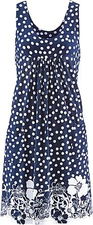 Bonprix Dam Stretchklänning i blå utan ärm - bpc collection 9b0eb46794d68