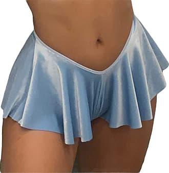 QIYUN.Z Women Sexy Shorts Comfy Fold Bloomers Loose Shorts Low Waist Beach Club Shorts Blue M