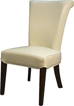 New Pacific Direct 148B-2050 Bentley Bonded Leather, Set of 2 Dining Chairs, Beige