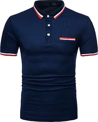 NPRADLA Casual Polo Shirts New Hot 100 Cotton Mens Slim Sports Short Sleeve Casual Shirt T-Shirts Tee Short Tops Blouse (XX-Large, ZZ-Grey)