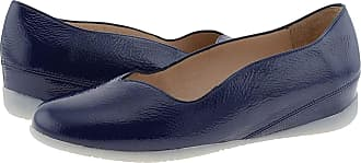Wonders A-1103 Leather Ballet Flats Padded Insole Size: 6 Color: Navy