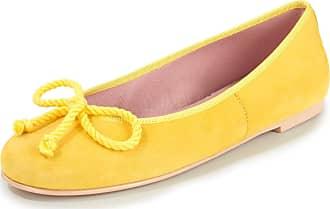 Pretty Ballerinas Kidskin suede ballerina pumps Pretty Ballerinas yellow