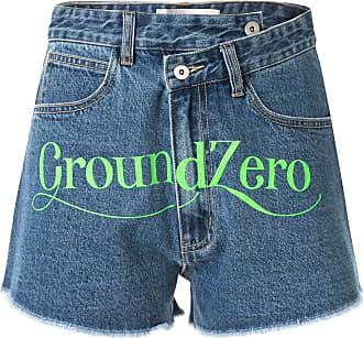 Ground-Zero Short jeans cintura alta - Azul