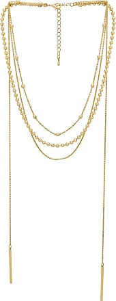 8 Other Reasons Amber Lariat in Metallic Gold