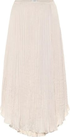 Vince Crushed satin midi skirt