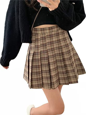 Vdual Ulzzang Ladies Summer Plaid Checkered Pattern Design Plus Size Variation Short Slim Fashion Sporty Tennis Skirt
