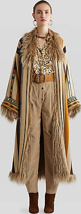 Etro Ribbed Velvet Trousers, Woman, Beige, Size 46