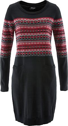 1d938de5a314 Bonprix Dam Stickad klänning i svart lång ärm - bpc collection