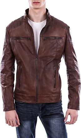 Leather Trend Italy Attila - Giacca Uomo in Vera Pelle colore Marrone Invecchiato