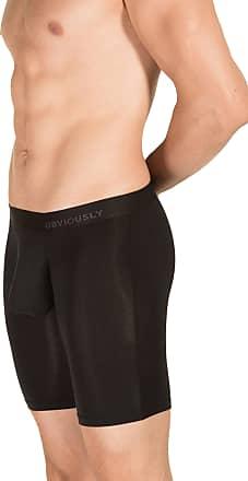 Obviously Mens PrimeMan AnatoMAX Boxer Brief 9inch Leg - Black - Extra Extra Extra Large