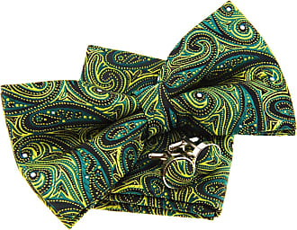 Retreez Elegant Paisley Art Pattern Woven Microfiber Pre-tied Bow Tie (Width: 5) with matching Pocket Square and Cufflinks, Gift Box Set as a Christmas Gift,