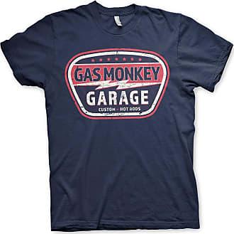 Gas Monkey Garage Officially Licensed Vintage Custom T-Shirt (Navy), XXL