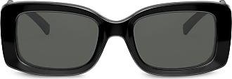 Versace Óculos de sol retangular - Preto