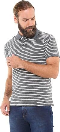 Yachtsman Camisa Polo Yachtsman Reta Listrada Cinza/Off-White