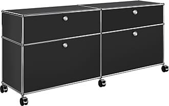 USM Haller Rollcontainer 102x37x60,5cm - graphitschwarz RAL 9011