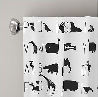 Skyline Furniture Furniture Alphabet Blackout Curtain Panel - White - Size:84x50
