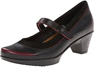 Naot Naot Womens Latest Dress Pump, Volcanic Red Leather/Black Velvet Nubuck, 37 EU/6-6.5 M US