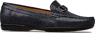 Van Dal Womens Bliss XE Wide EEE Fit Leather Loafers, Midnight Crackle Print, Size 39 EU