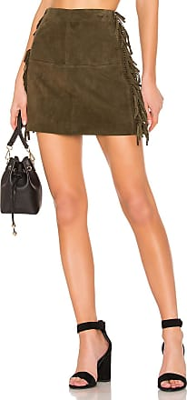 House Of Harlow X REVOLVE Serafina Leather Mini Skirt in Olive
