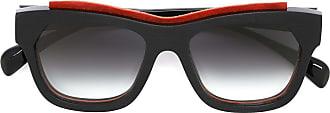 Marsèll Óculos de sol com detalhe em couro - Preto