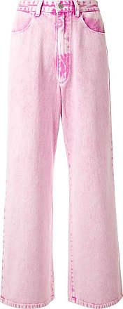 Ground-Zero Calça jeans pantalona cintura alta - Rosa