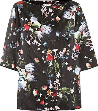 Erdem Gena floral silk satin top