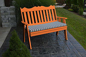 A & L Furniture A & L Furniture 856-O Orange Poly Royal English Bench, Orange