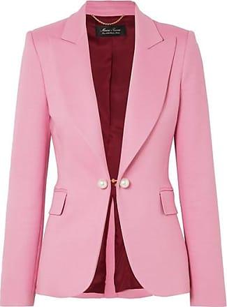 Adam Lippes Faux Pearl-embellished Twill Blazer - Pink