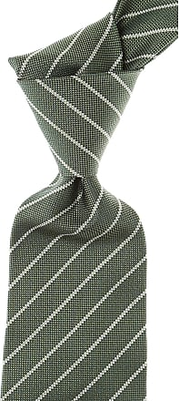 Kiton Ties On Sale, Moss Green Melange, Silk, 2017, one size