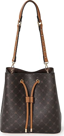 Basler Tote bag a leather look strap Basler brown