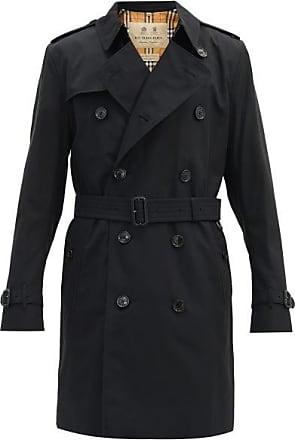 Burberry Kensington Cotton-gabardine Trench Coat - Mens - Black