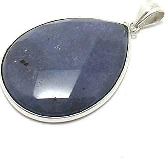 Boreale Joias Pingente Prata 925 Gota Grande Pedra Natural Jade Ametista