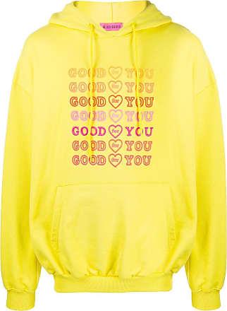 Ireneisgood Moletom Goodforyou de algodão com bordado - Amarelo
