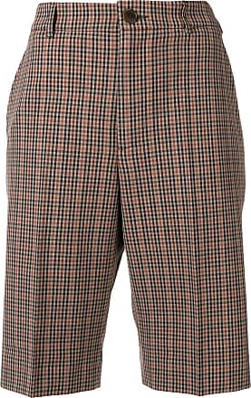 Ymc You Must Create checked knee-length shorts - Brown