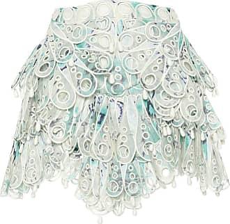 Zimmermann Glassy embroidered tiered miniskirt