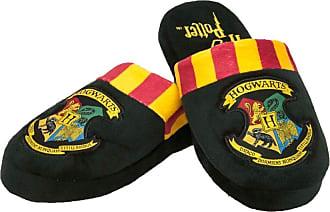 Harry Potter Hogwarts Harry Potter Mule Slippers Black Burgundy Yellow Adult Ladies Medium UK Size 2-4