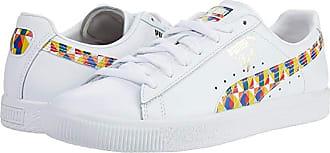 Puma Clyde Graffiti (Puma White/Dandelion/Puma White) Mens Shoes