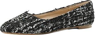Mediffen Womens Round Toe Slip On Fashion Casual Flats Black Size 37 Asian