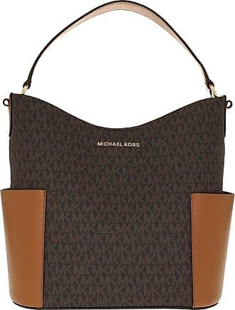 Michael Kors Bedford MD Bucket Shoulder Bag Brown Acorn