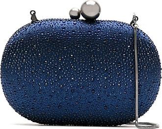 Isla Bolsa clutch com strass - Azul