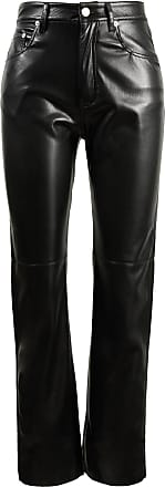 Nanushka Hose aus Lederimitat Vinni Schwarz