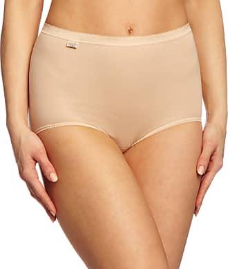 sloggi Womens Basic Maxi 3 Pack plain Basic+ premium comfort Knickers, Beige (Powder), Size 18