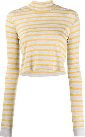 Alexander Wang Blusa de tricô com listra - Amarelo