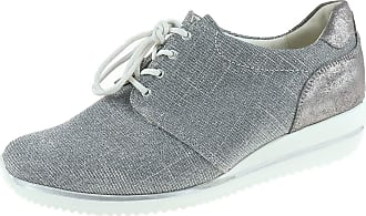 Waldläufer Himona 980002311070 Womens Lace-Up Shoes Width H Stone Pietra Silver Size: 4.5 UK