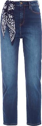 Cantão Calça Jeans Reta Super Alta Premium - Azul
