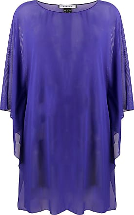 Fisico sheer floaty style tunic top - PURPLE